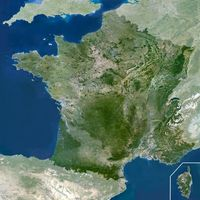 carte satellite france