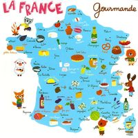 carte france culinaire