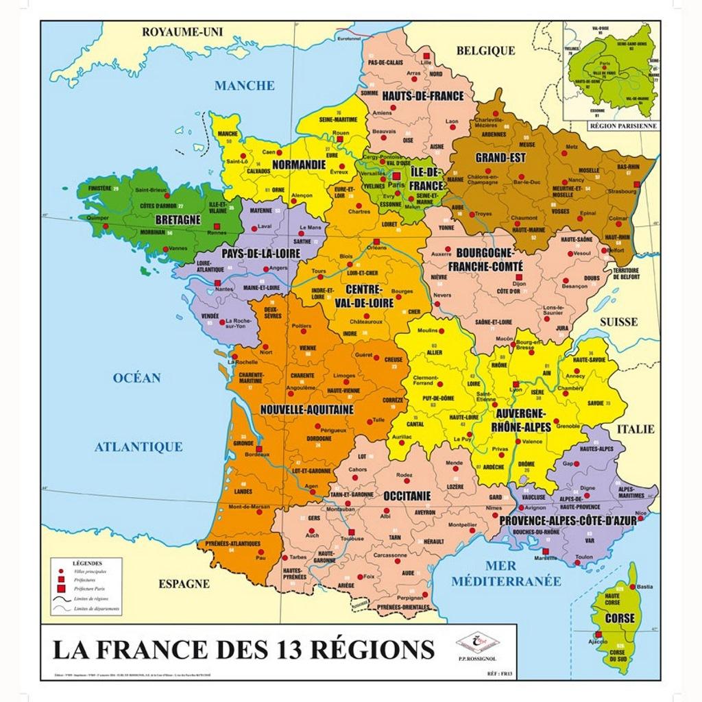 Carte Des 13 Regions De France